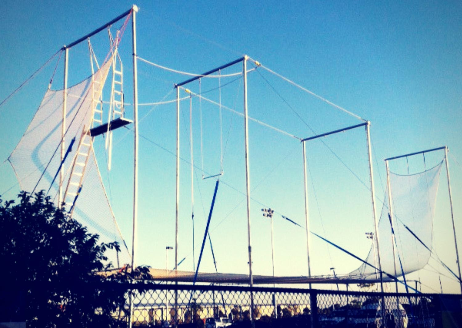 Flying trapeze rig in Brisbane