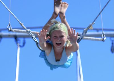 Child on the flying trapeze