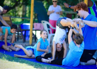 Kids parties and school holiday programs hand balancing Circus Arts Sydney
