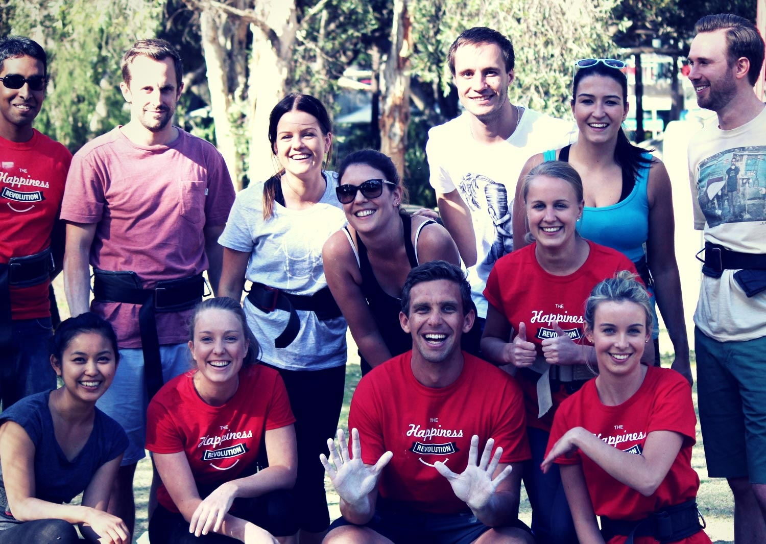 Group photo at Circus Arts Sydney - Corporate team building circus and flying trapeze