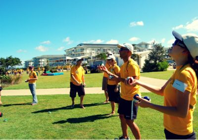 Corporate group team building with Circus Arts