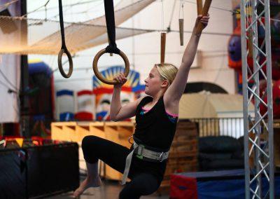 Child on ninja equipment Circus Arts Byron Bay