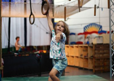 Child on ninja and parkour course at Circus Arts Byron Bay