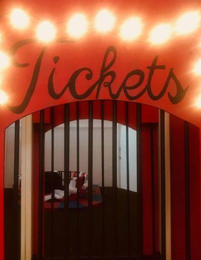 Ticket booth at Circus Arts Byron Bay Play Space