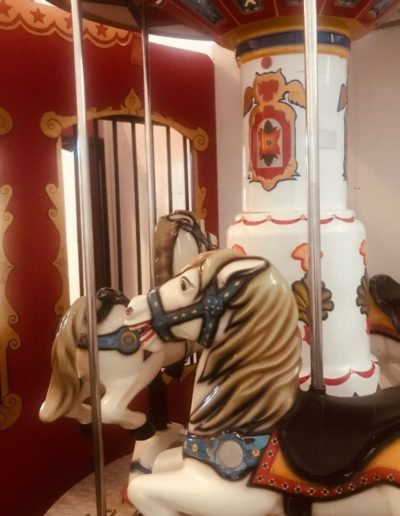Vintage carousel at Circus Arts Play Space